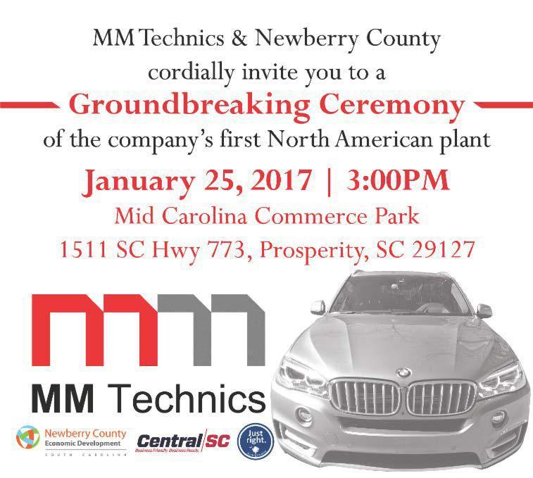 MM Technics & Newberry County Groundbreaking Ceremony